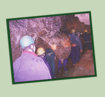 Youth preparing for mining - Forest Adventure